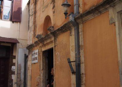 Kaple mezi uličkami v Chanii